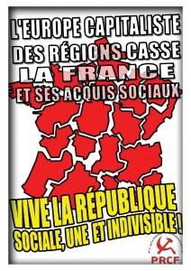 Agir contre la Réforme Territoriale, la Loi NOTRE, la balkanisation du territoire et la casse du service public !