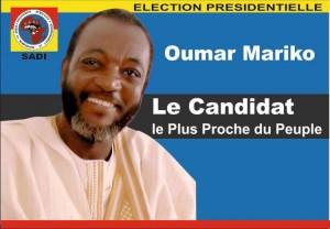 Oumar Mariko, candidat du peuple à l'élection présidentielle du Mali