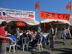 Stand du PRCF à la Fête de l'HUMA 2013, du 13 au 15 Septembre