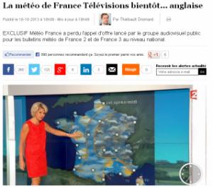 Météo-France doit rester le fournisseur d'informations du service public !