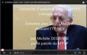 Vidéo: Entretien avec Léon LANDINI, résistant FTP MOI