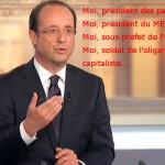 Hollande moi président des patrons