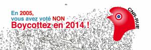 Le 25 mai 2014 : Boycotter c'est résister ! – communiqué du CNR-RUE