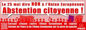 Soutenez la campagne du PRCF de boycott de l'élection européenne, faites un don