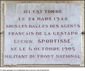 23/03/1944 – 2014 : hommage au résistant Lucien Sportisse