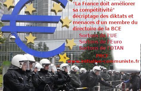 ditktat et menace de la BCE