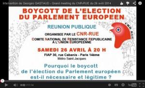 [vidéo]  CNR-RUE lance la campagne de boycott de l'élection européenne : le meeting en vidéo