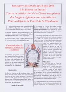 Contre la ratification de la Charte européenne des langues régionales ou minoritaires