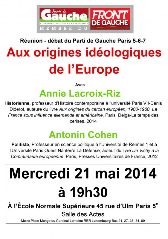 Réunion Europe 21 mai 2014
