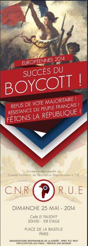 cnr-rue 25 mai européennes 2014 abstention  boycott, PRCF