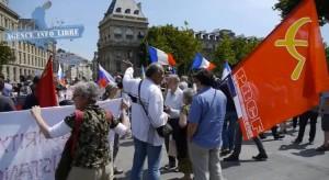 Manifestation à Paris le 22-6-14, pour la paix en UKRAINE : le PRCF y était !