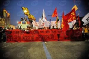 les communistes brésiliens (PCB) dans la rue