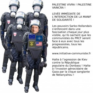 hollande interdit manifesation fascisation palestine