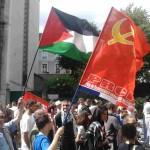 De militants PRCF dans une manifestation de solidarité avec le peuple palestinien