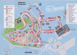 Où trouver le stand du PRCF à la Fête de l'HUMA 2014 ?