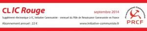 le CLIC rouge de septembre 2014 est paru [supplément electronique gratuit à Initiative Communiste]