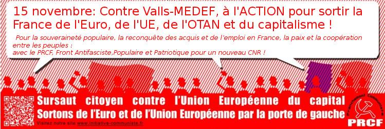 PRCF manifestation sortir de l'UE austérité