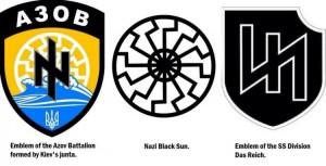 les insignes nazis du bataillon Azov
