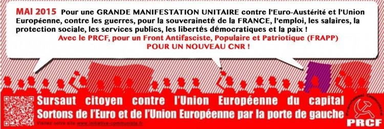prcf1 manifestation europe 30 mai sortir euro