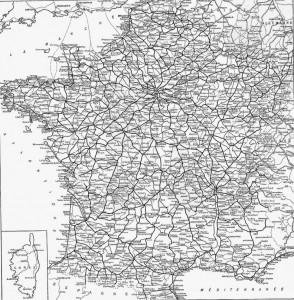 carte du réseau ferré 1921 france