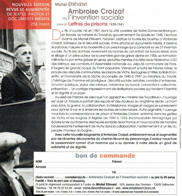 ambroise croizat p re de la s curit sociale et de nos retraites initiative communiste. Black Bedroom Furniture Sets. Home Design Ideas