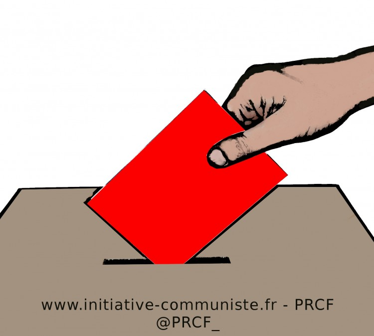 election urne vote bulletin rouge prcf