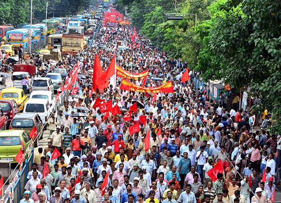 manifestation communistes inde