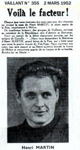 1952 Vaillant et l'Affaire Henri Martin