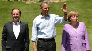 Merkel, Obama et Hollande Site lemag.ma