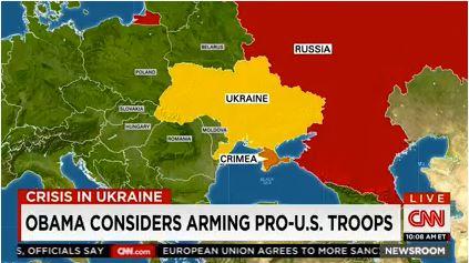 Obama envisage d'armer les troupes pro américaines en ukraine. CNN - chaine de télévision américaine