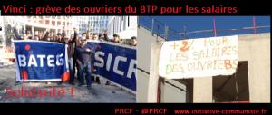 Vinci : grève des ouvriers du gros œuvre – Solidarité !