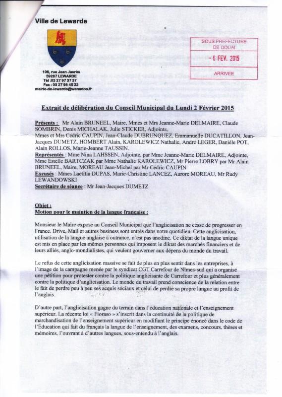 lewarde langue française