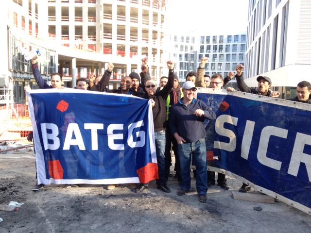 Les ouvriers du BTP de Vinci en grève