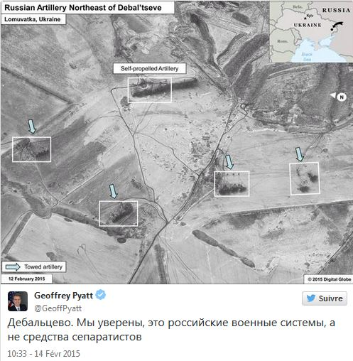 Les soi-disant preuve de l'otan, publié par l'ambassadeur US G Pyat sur son compte twitter...