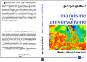Marxisme et Universalisme, un livre de Georges Gastaud