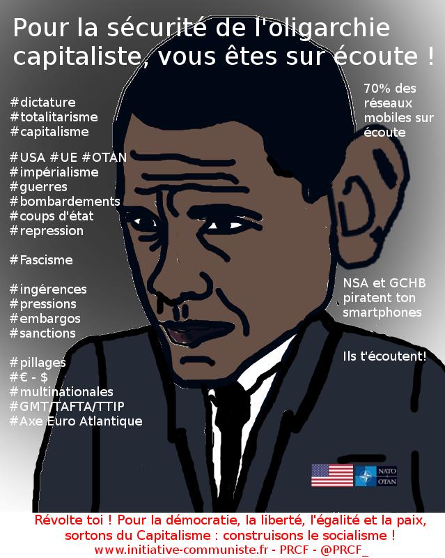 OBAMA NSA Ecoutes,piratage dictature