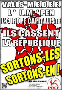Elections départementales : combattre la contre-réforme territoriale Valls-MEDEF-UE [Tract et Affiche]