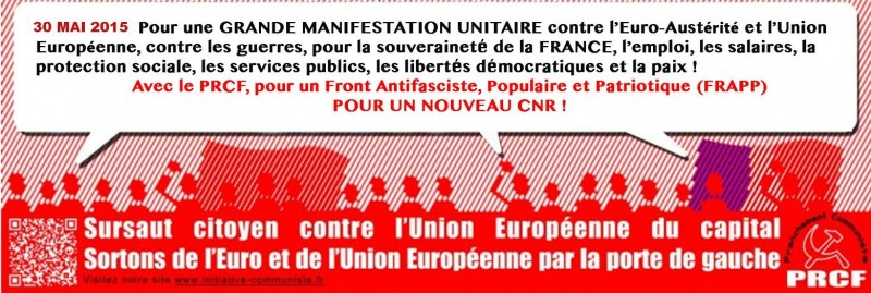 affiche prcf 30 mai sortie de l'euro sortie de l'UE