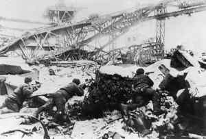Bataille de stalingrad : combat dans les ruines de l'usine Octobre Rouge