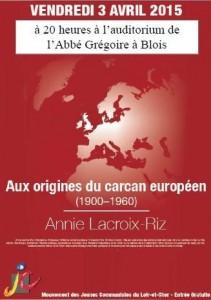 """3 avril – Blois – conférence Annie Lacroix-Riz """"Aux origines du carcan européen"""""""