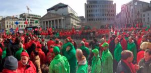 Grève générale en Belgique aussi : contre l'euro destruction du droit du travail manifestation nationale et grève générale #loitravail #loipeeters