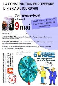 Lille 9 mai 2015 : La construction européenne d'hier à aujourd'hui ! [Conférence-débat ]