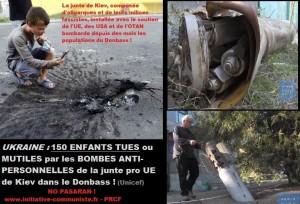 Ukraine : plus de 150 enfants tués ou mutilés par des bombes antipersonnelles (UNICEF)