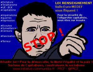 Loi renseignement : Valls-UE-MEDEF pour une surveillance totale, nouveau signe de la #fascisation ! #liberté