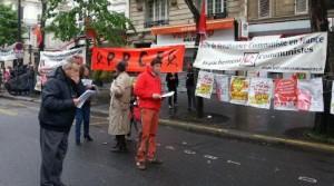 Préparation du point fixe du PRCF sur la manifestation du 1er mai à Paris
