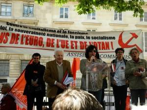 Succès du rassemblement devant l'Assemblée Nationale contre l'euro et l'UE atlantique #30 mai [Assises du Communisme]