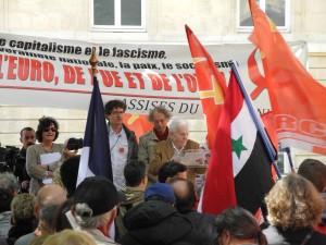 """Léon Landini FTP MOI : """"entrons dans la nouvelle résistance, celle qui vise à relancer la lutte pour le socialisme en brisant les chaînes de l'Union européenne !"""" [30 mai 2015 – Discours]"""
