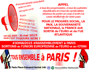 Pourquoi manifester le 30 mai à Paris : par Gilles Questiaux [Paris 14h Place E Herriot – TOUS ENSEMBLE]