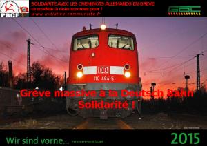 Allemagne grève massive des cheminots de la Deutsch Bahn