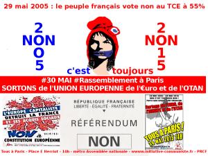29 mai 2005  – 29 mai 2015 : Pour les français c'est toujours NON ! 62% voteraient NON  ! #noncestnon